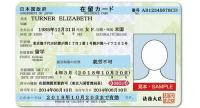 Residence Card Example