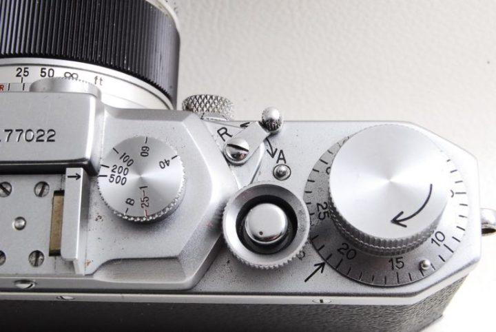 Canon II D(2D)型フォーカルプレーン式カメラフイルム巻き戻しレバー