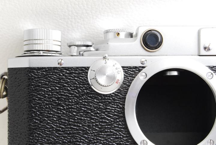 Canon-Ⅱ-D-改型-低速シャッタースピード調整ダイヤル