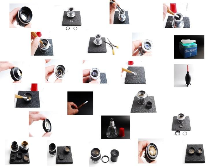 レンズ修理工程