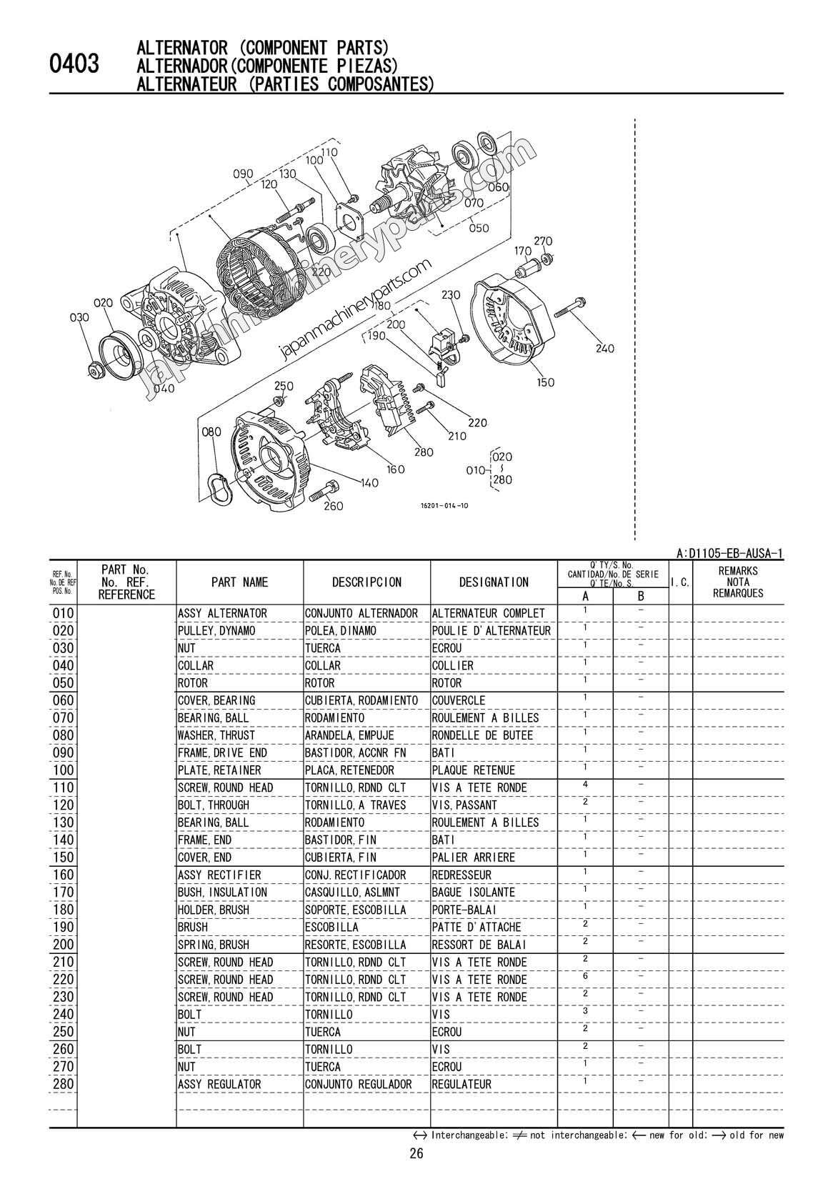 Kubota Engine Parts Diagram D