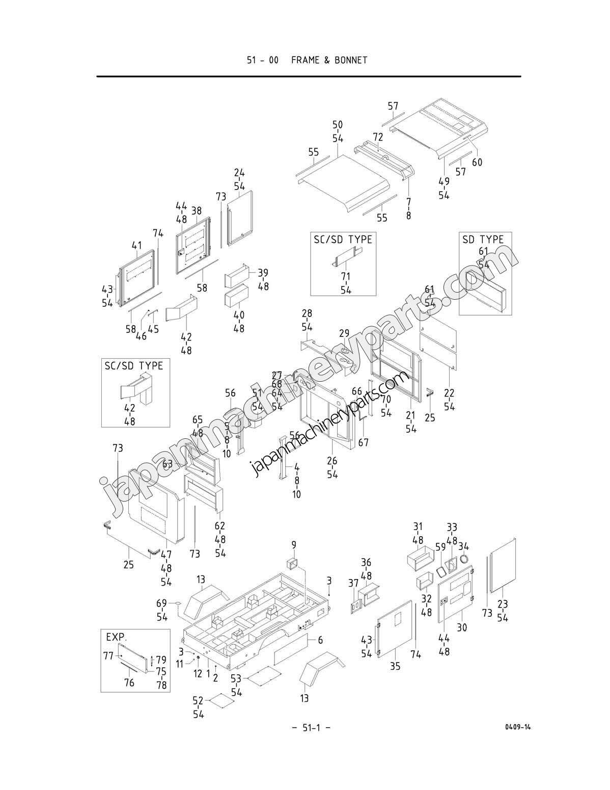 Parts for airman pds390s4b15b1 0051