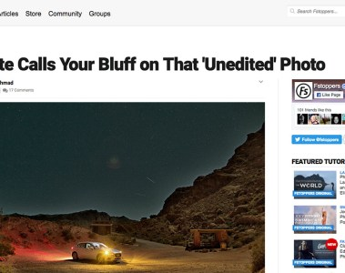 Website Calls Your Bluff on That 'Unedited' Photo