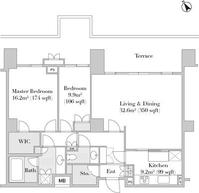 Park Mansion Roppongi 2F Floorplan