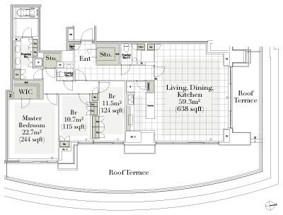 Park Mansion Mita Tsunamachi The Forest 170A Type Floorplan