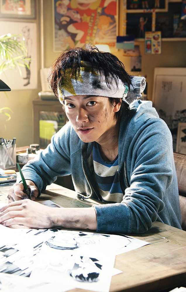 Takeru Sato as a manga artist in Bakuman