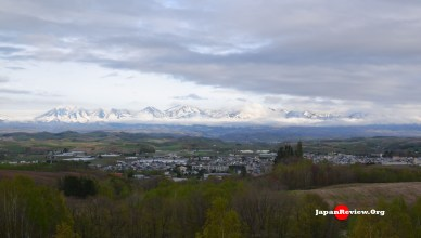 Self-drive Hokkaido: The Tokachidake Mountain Range from Shikisai no Oka , Biei