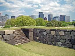 the tenshukaku of edo castle as it looks today (tokyo imperial palace)