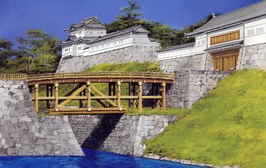 Here's a digital version of the same view of the old kejobashi.