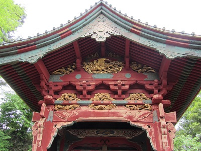 Close up of the Inari Gate. The detail is fantastic and the color gives you a good idea of how the structures in the black and white photos would have looked. Beautiful!