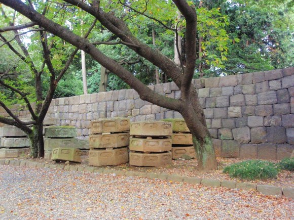 stacks of stone monuments....