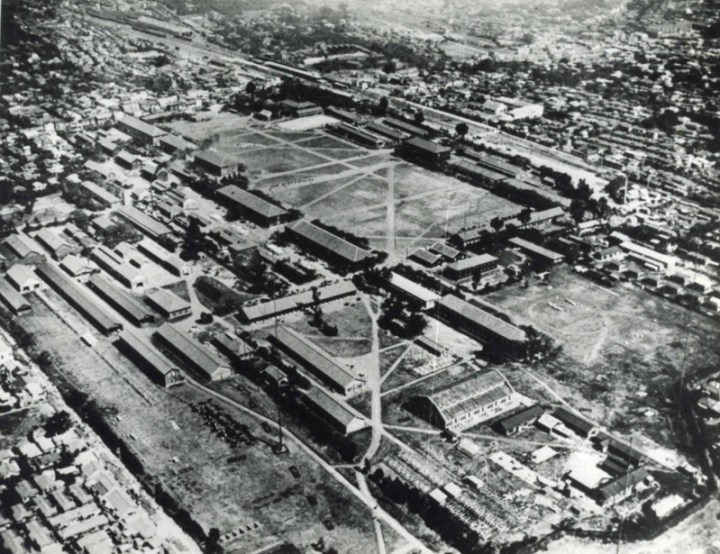They say he had a sanctuary for stray dogs in present day Nakano. Nakano Ward says this arial shot is of the place. OK, if you say so....