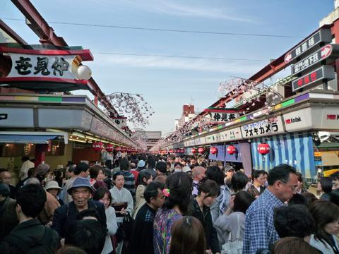 Senso-ji is crowded all year long.