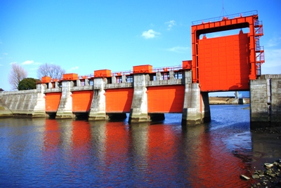 "The old Iwabuchi Floodgate is affectionately called Akasuimon ""Red Floodgate."" It is not longer used and some crazy river people like to go there for sightseeing."
