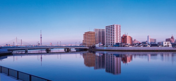 """Savvy real estate developers have seized upon the love for the water and the beautiful view that post Bubble developers didn't give a shit about. They've re-imagined Tokyo as a low city with semi-high-rise apartments. The open space and """"low city"""" feeling creates a modern Tokyo lifestyle deep in the heart of the Edo's last dying gasps for air."""