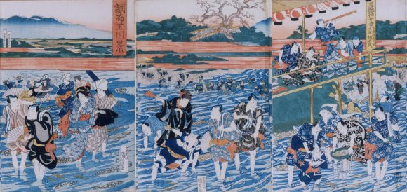 It all just disintegrated into river monkeys. The people of Tama District just goofed off in the river. How quaint.  This is why Kondo Isami and Hijikata Toshizo, despite having skills, were dismissed outright by higher ranking Edoites. The curse of the country samurai.