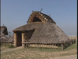 Reconstruction of a farmer's home in the Asuka Period.