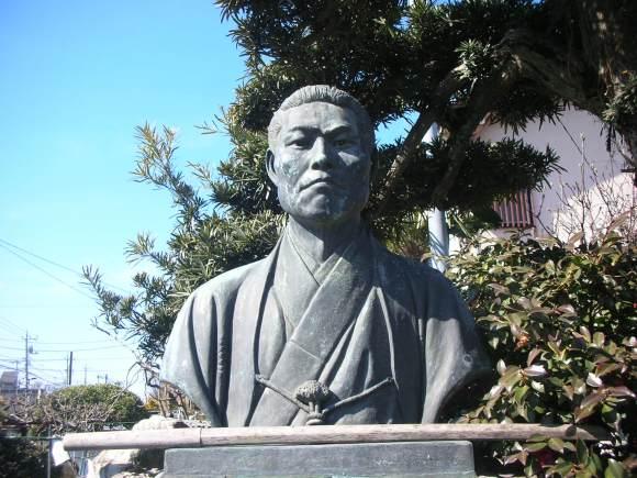 Statue of Kondō Isami at Ryūgen-ji.