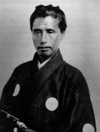 Katsu Kaishū in San Francisco posing like a straight up pimp.