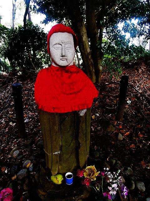 headless jizo at doryo-do the haunted temple in hachioji