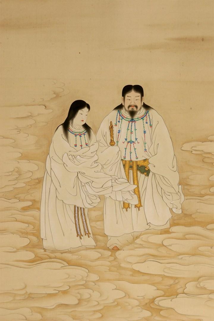 Izanagi and Izanami in the heavens