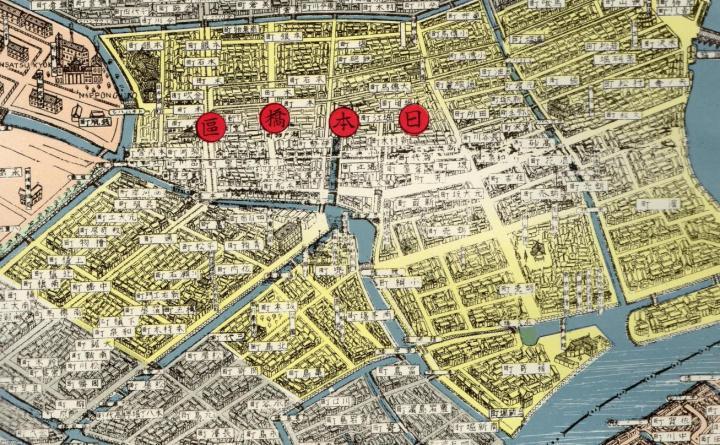 Map of Nihonbashi-ku