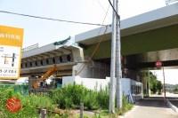 Sensitive spot big scale high way construction, Kenoudou accross Shinkansen. (20)