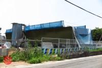 Sensitive spot big scale high way construction, Kenoudou accross Shinkansen. (3)
