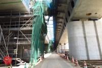 Sensitive spot big scale high way construction, Kenoudou accross Shinkansen. (36)