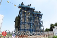 Sensitive spot big scale high way construction, Kenoudou accross Shinkansen. (33)