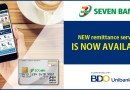 SEVEN BANK together with BDO Unibank