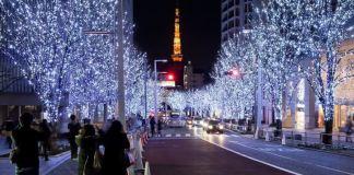 Iluminación navideña en Tokio