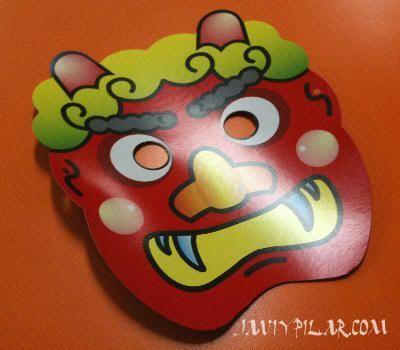 Máscara de Oni que nos regaló Yukari durante el setsubun de 2011