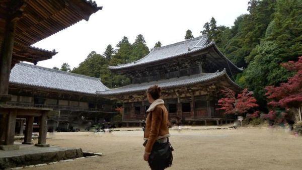 Monte Shosha: Templo Engyōji en otoño