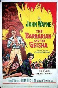 """Cartel de """"El Bárbaro y la Geisha"""" (""""The Barbarian and the Geisha"""", 1958)"""