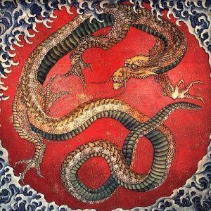 Dragón de Hokusai
