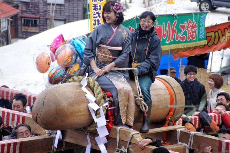 Hodare Matsuri, el festival del pene gigante de madera @ Santuario Hodare | Nagaoka | Niigata Prefecture | Japón