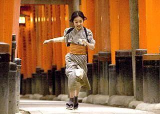 """La famosa escena de """"Memorias de una Geisha"""", rodada en Fushimi Inari Taisha (Fushimi, Kioto)"""