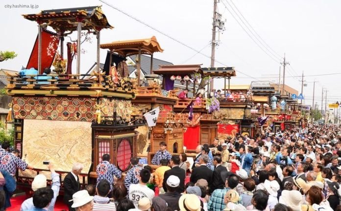 Festivales de Japón: Mino Takehana Matsuri (美濃竹鼻まつり) celebrado cada 3 de mayo en la ciudad de Hashima (羽島市), en la prefectura de Gifu