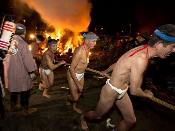 """Festivales de desnudos en Japón: los famosos """"hadaka matsuri"""""""