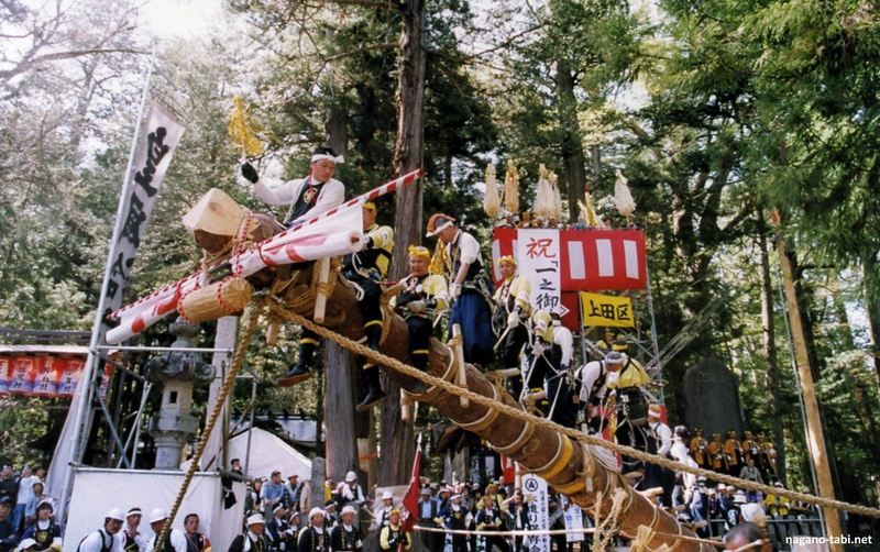 Ono Onbashira, un festival celebrado cada siete años @ Shiojiri | Japón