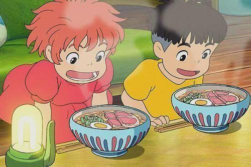 """¡Delicioso ramen! """"Ponyo en el Acantilado"""" (崖の上のポニョ, 2009)"""