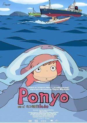 """Cartel de """"Ponyo en el Acantilado"""" (崖の上のポニョ, 2009)"""