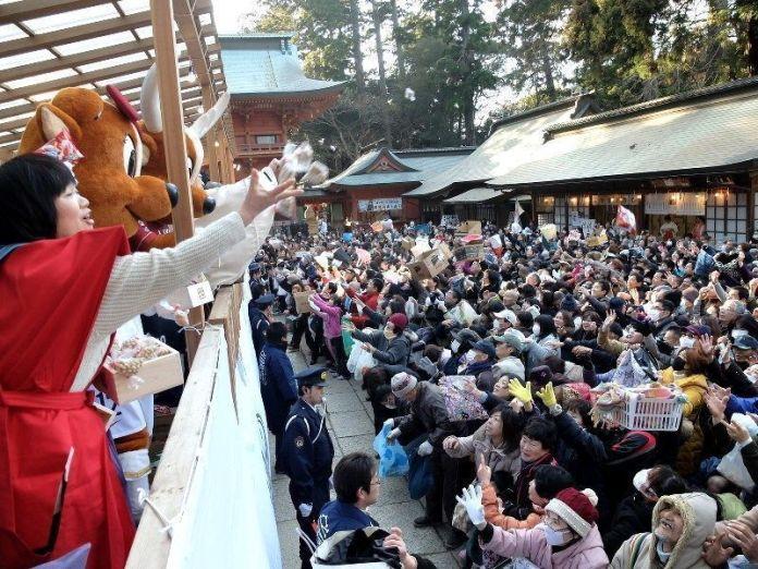 Festivales de Japón: festival de Setsubun en Kashima Jingu