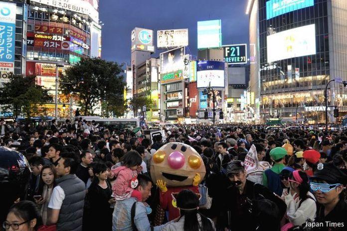 Halloween en Tokio. Participación masiva en Shibuya