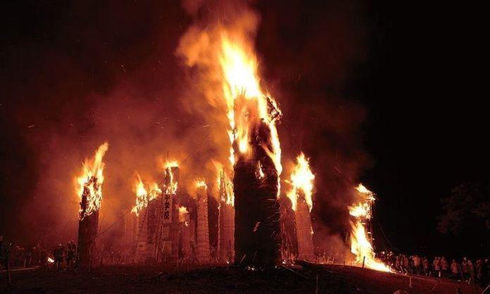 Festivales de Japón: festival del fuego Taimatsu Akashi de Sukagawa (prefectura de Fukushima)