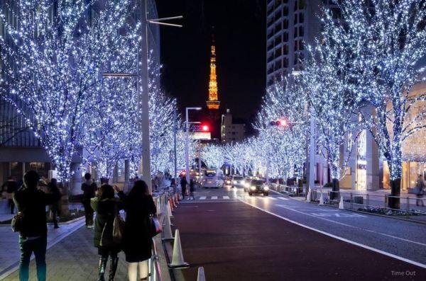La impresionante y precioso iluminación de Tokio en navidad