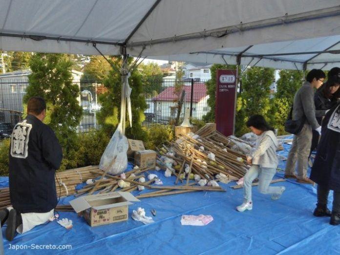 Festival Taimatsu Akashi: explicando como construir las antorchas