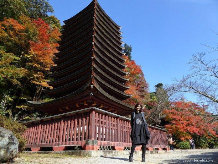 Pagoda de 13 pisos del santuario Tanzan (談山神社) en Sakurai (prefectura de Nara). Única en Japón