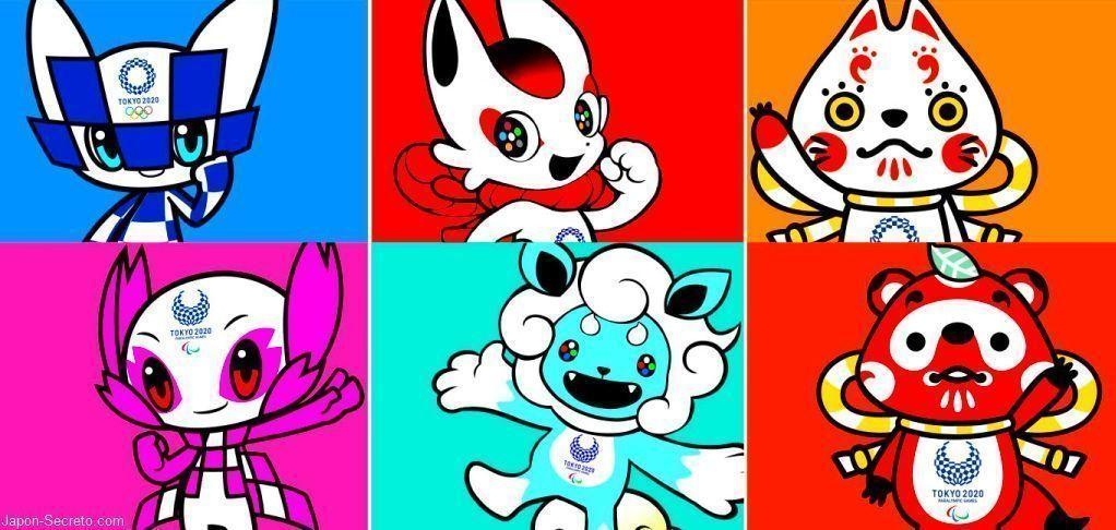 Mascotas preseleccionadas para representar a los Juegos Olímpicos de Tokio 2020